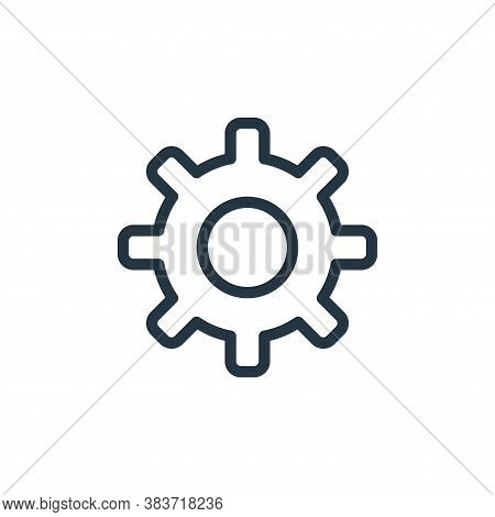 gear icon isolated on white background from miscellaneous collection. gear icon trendy and modern ge