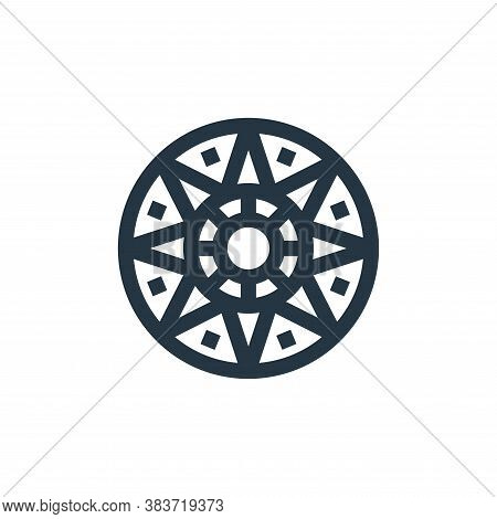 aztec calendar icon isolated on white background from cinco de mayo collection. aztec calendar icon