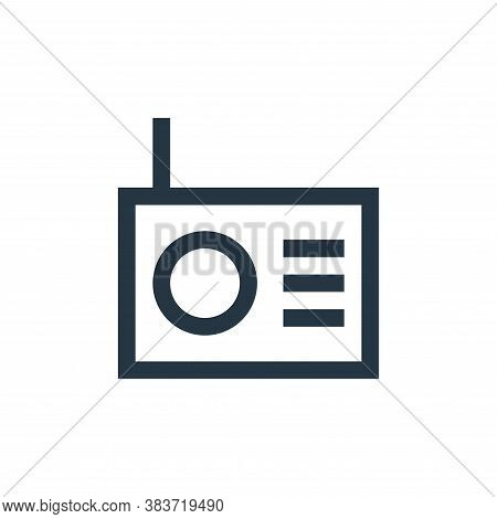 radio icon isolated on white background from electronic collection. radio icon trendy and modern rad