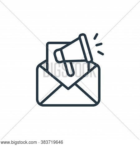 email icon isolated on white background from seo and website collection. email icon trendy and moder