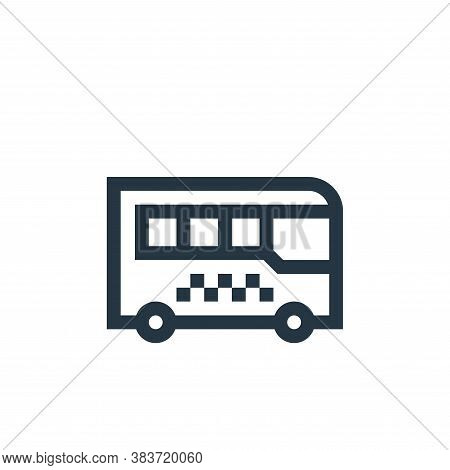 bus icon isolated on white background from taxi service collection. bus icon trendy and modern bus s
