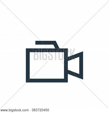 video recorder icon isolated on white background from electronic collection. video recorder icon tre