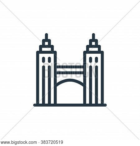 bridge icon isolated on white background from travel collection. bridge icon trendy and modern bridg