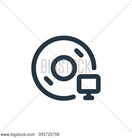 installation icon isolated on white background from disc tool line collection. installation icon tre