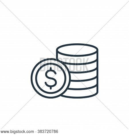 coins icon isolated on white background from finance collection. coins icon trendy and modern coins
