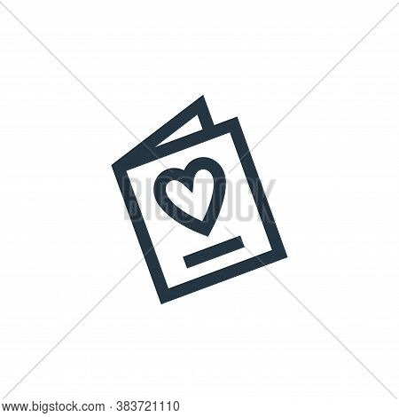 greeting card icon isolated on white background from mothers day collection. greeting card icon tren