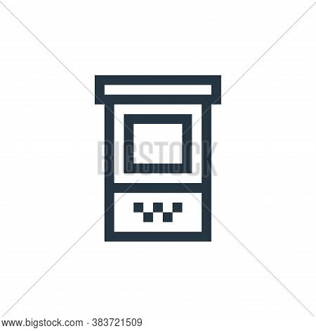 ticket office icon isolated on white background from taxi service collection. ticket office icon tre