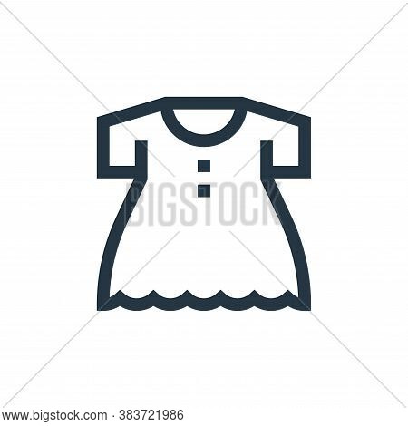 dress icon isolated on white background from baby shower collection. dress icon trendy and modern dr
