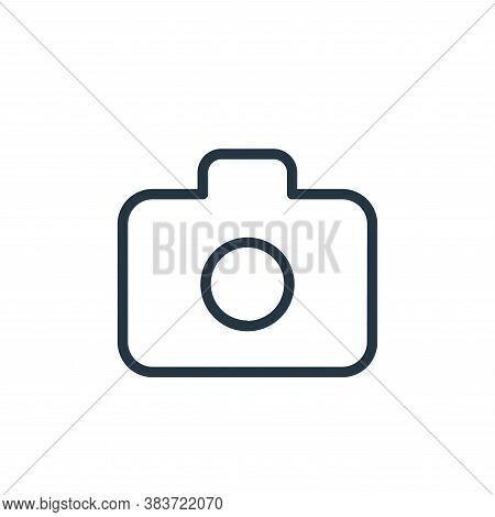 camera icon isolated on white background from seo collection. camera icon trendy and modern camera s
