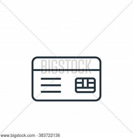 credit card icon isolated on white background from e commerce collection. credit card icon trendy an