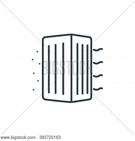 air purifier icon isolated on white background from air pollution collection. air purifier icon tren