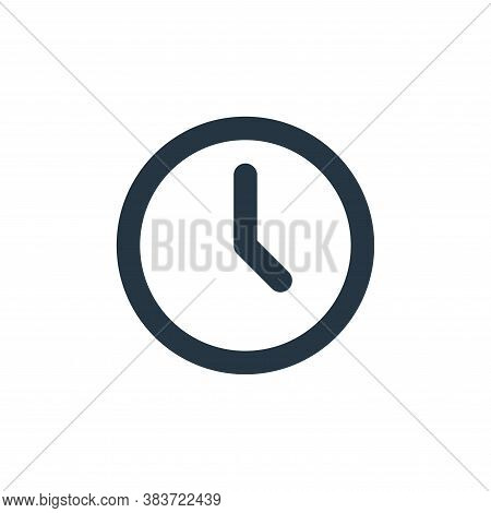 time icon isolated on white background from basic ui collection. time icon trendy and modern time sy