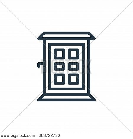 door icon isolated on white background from travel collection. door icon trendy and modern door symb