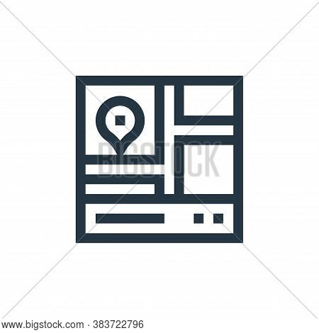 gps icon isolated on white background from taxi service collection. gps icon trendy and modern gps s