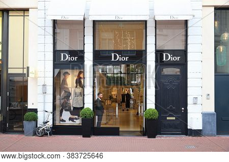 Amsterdam, Netherlands - July 10, 2017: Dior High Fashion Shop At P.c. Hooftstraat In Amsterdam. Pie