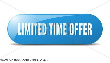 Limited Time Offer Button. Limited Time Offer Sign. Key. Push Button.