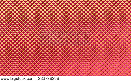 Red And Gold Background With Embossed Texture For East Design. Vector Eps10