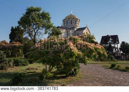 Sevastopol, Crimea, Russia - June 26, 2019: Vladimir Cathedral In Chersonesos. It Was Built In The P