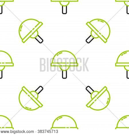 Line Light Emitting Diode Icon Isolated Seamless Pattern On White Background. Semiconductor Diode El