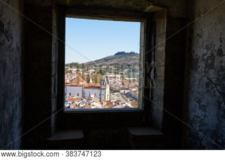 View Of Castelo De Vide Through The Window Of The Castle, In Portugal