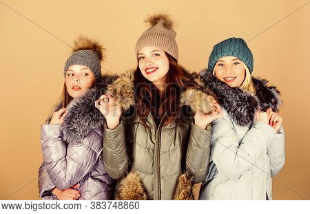 Group Friends Hang Out Together. Female Clothes Shop. Modern Trendy Female Outfit. Gorgeous Girls Ma