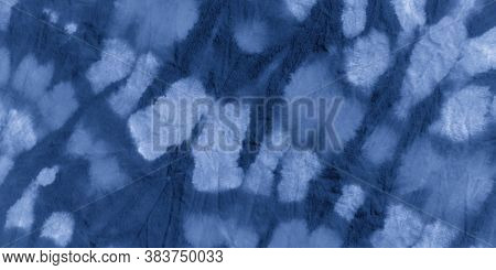Clouds Tie Dye Batik. Ink Painted Zigzag. Abstract Colored Poster. Space Bohemian Surface. Tie Dye S