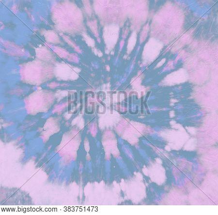 Art Rock Background. Pastel Grunge Tie Die Pattern. Aqua Hippie Print. Pink Vintage Fabric. Circular