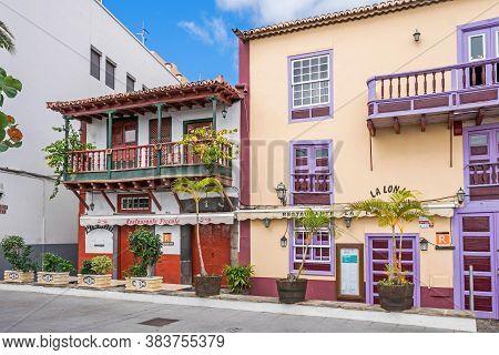 Santa Cruz De La Palma, Spain - November 12, 2019: The Best Preserved Ensemble Of Typical Canarian W