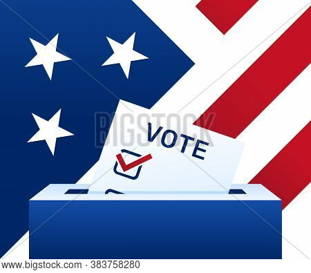 Voting Concept - United States. Election Day. Ballot Paper. Political Election Campaign