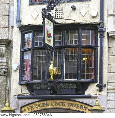 London, Great Britain -may 23, 2016: Ye Olde Cock Tavern, Public House, Beerhouse