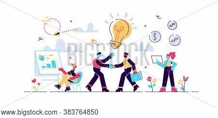 Businessmen Making Agreement. Brand Management. Company Collaboration. Partnership And Agreement, Co