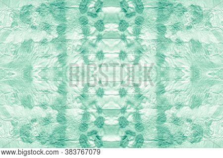 Mud Art. Green Or Neo Mint Color. Rough Abstract Aquarelle Splash. Boho Mud Illustration. Paint Soak