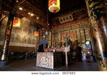 Old Chinese Temple-Interior