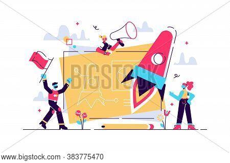 Startup New Business Project. Development Process. Innovation Product, Creative Idea. Start Up Launc