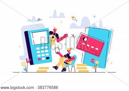 Concept Online And Mobile Payments For Web Page, Social Media, Documents, Cards, Posters. Vector Ill