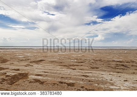 Lake Ebeyty, The Largest Salt Lake In Omsk Region, Russia, Contains Therapeutic Mud. Beautiful Natur