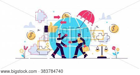 Ethical Marketing Vector Illustration. Flat Tiny Responsible Persons Concept. Symbolic, Honest And F