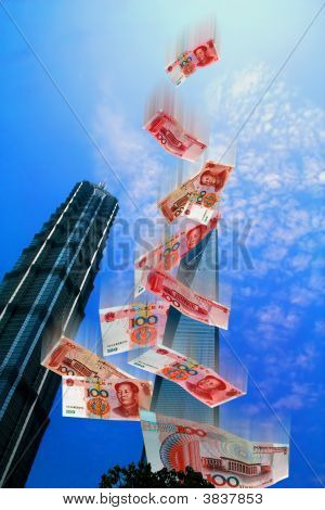 Illustration Of The Economic Market Of China Today