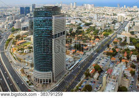 Tel Aviv, Israel - May 19, 2011: Kirya Tower Is A High-rise Office Building (158 Meters High) In The