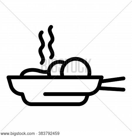Homemade Fried Food Icon. Outline Homemade Fried Food Vector Icon For Web Design Isolated On White B