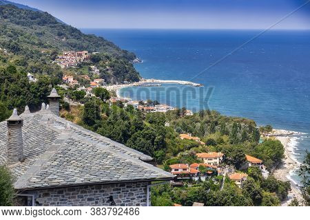 Beautiful View Of Village And Beach At Agios Ioannis, Pelion, Greece