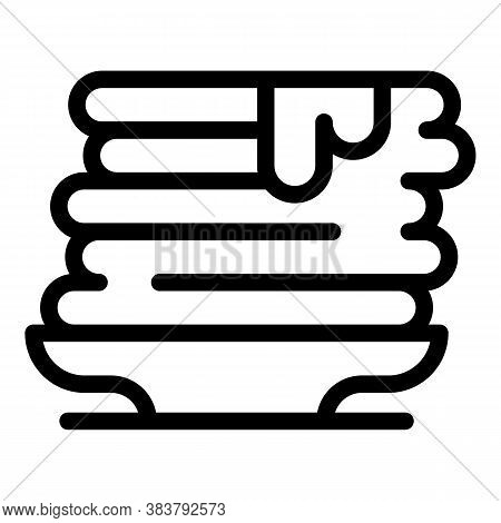 Homemade Pancake Food Icon. Outline Homemade Pancake Food Vector Icon For Web Design Isolated On Whi