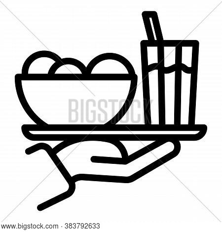 Homemade Food Tray Icon. Outline Homemade Food Tray Vector Icon For Web Design Isolated On White Bac