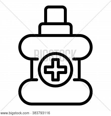 Antibacterial Bottle Icon. Outline Antibacterial Bottle Vector Icon For Web Design Isolated On White