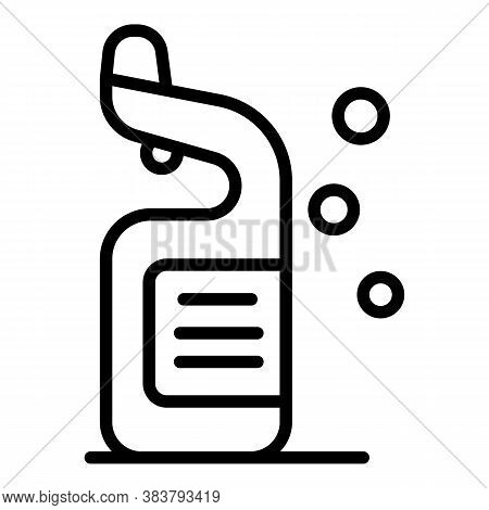 Disinfection Toilet Cleaner Icon. Outline Disinfection Toilet Cleaner Vector Icon For Web Design Iso