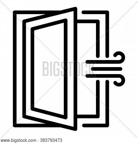 Room Ventilation Icon. Outline Room Ventilation Vector Icon For Web Design Isolated On White Backgro