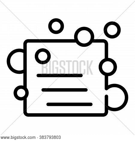 Sponge Disinfection Icon. Outline Sponge Disinfection Vector Icon For Web Design Isolated On White B