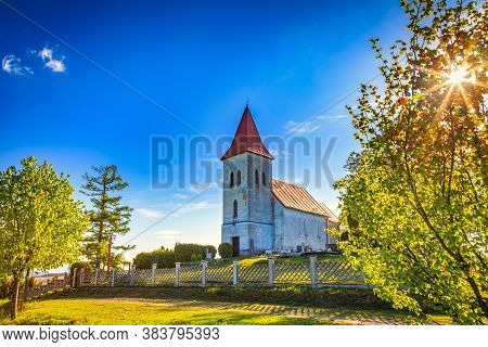 Saint Kosmas Church In Abramova Village, Turiec Region, Slovakia, Europe.