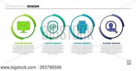 Set Envelope, Shield With Mail And E-mail, Mobile And Envelope And Create Account Screen. Business I