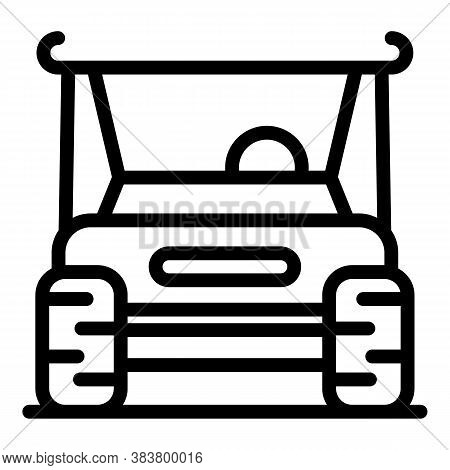 Golf Buggy Icon. Outline Golf Buggy Vector Icon For Web Design Isolated On White Background